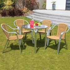 4 Seater Patio Furniture Set - cozy bay sol bistro cappuccino 4 seater bistro set beige