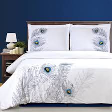 Peacock Feather Comforter Set Peacock Feather Comforter Set Bedding Compare Prices At Nextag