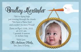 welcome stork baby birth announcement di 6006 harrison