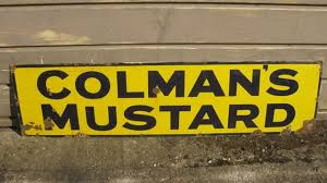 colman s mustard shop stuff enamel shop sign colmans mustard for sale 7826