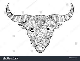 day dead sugar skull bull head stock vector 361253378 shutterstock