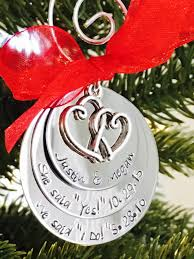newlywed newly engaged christmas ornaments ornament dream