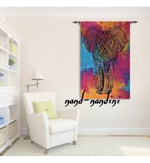 elephant tie and die home decor poster