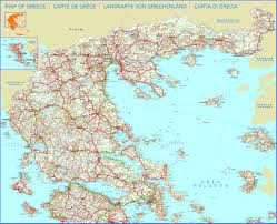 Political Map Of Greece by Detailed Road Map Of Greece Greece Detailed Road Map Vidiani