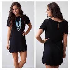 last one black scallop shift dress m l from molly u0027s closet