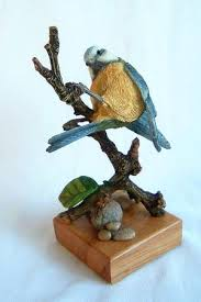 bluetit bird figurine country artists bluetit bird sculptures
