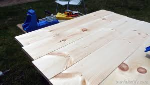 Making A Wooden Table Top by Our Lake Life Replacing An Outdoor Glass Table Top Our Lake Life