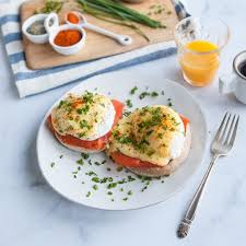 cuisine hollandaise smoked salmon eggs benedict with hollandaise saucerecipe simply