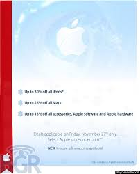 macbook black friday sales apple black friday sale 2009 ad leaked see the details updated