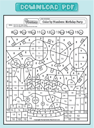 printable math worksheets coloring