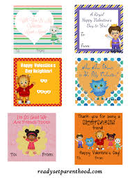 daniel tiger valentines free printable ready set parenthood