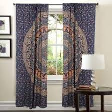Boho Window Curtains Mandala Door Drapes Bohemian Bedroom Curtains Boho Window Hanging