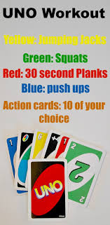 kid cards uno workout fitnessfriday