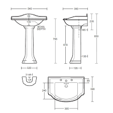 Small Basin by Imperial Drift Small Basin 540mm Uk Bathrooms
