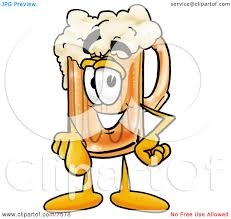 beer cartoon clipart picture of a beer mug mascot cartoon character pointing at