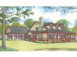 074h 0016 country style multi generational house plan with in law