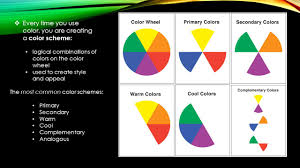 color an element of design the color wheel an illustrative