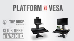 the duke vesa vs platform standing desk converter youtube