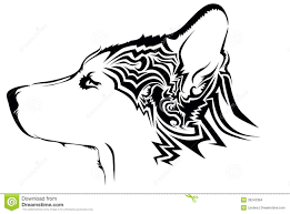 tribal wolf tattoo stock vector image of shepard black 39243384