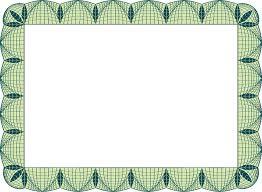 greens blue printable borders certificate template