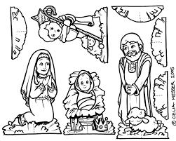 preschool nativity scene coloring nativity scene coloring