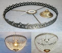 Make Your Own Pendant Light Kit Basket Chandelier Metal Frame Skeleton Make Your Own Chandelier
