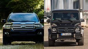 lexus lx 570 vs mercedes benz gl 550 2016 toyota land cruiser vs 2016 mercedes benz g class youtube