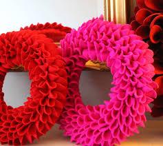 decorative felt wreath wreaths felt wreath and felting