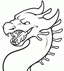 how to draw a simple dragon head step 8 d u0026d ideas pinterest