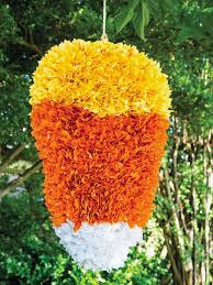 how to make a candy corn pinata for halloween hgtv