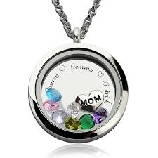 charm locket necklace charms images Personalized memory locket necklace with birthstone jpg