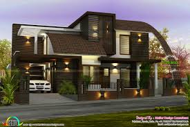 kerala home design 1600 sq feet 2550 sq ft contemporary mix roof house kerala home design