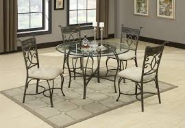 Glass Round Kitchen Table by Table Round Glass Dining With Metal Base Sunroom Kids Victorian