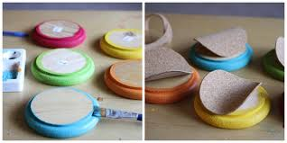 colorful circle cork boards to organize your home office or dorm