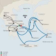 Aegean Sea Map Classical Greece Land And Sea Tour Globus