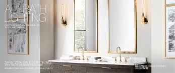 Restoration Hardware Bathroom Lighting All Bath Lighting Rh Modern