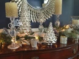 mercury glass trees lights decoration