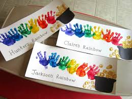 handprint rainbow crafts to do with kids for st patrick u0027s day