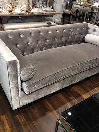 Grey Velvet Sectional Sofa Sofa Blue Gray Velvet Fabric Tufted Sofa Grey Velvet Gray