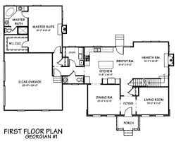 colonial style house plan 4 beds 2 50 baths 2480 sq ft plan 446 1