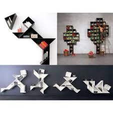 Interesting Bookshelves by Asimetrik Kitaplıklar Creative Running Away And Cool Bookshelves