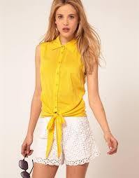 womens yellow tops blouses 2012 arrvial fashion s chiffon shirt yellow shirt hem