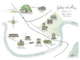 Map Of The French Quarter In New Orleans by New Orleans Custom Wedding Map French Quarter Garden