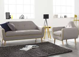 fauteuil canapé salon complet canapé et fauteuil copenhague achatdesign