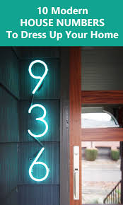 Modern House Ideas 10 Modern House Number Ideas To Dress Up Your Home Contemporist