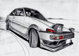 koenigsegg one drawing my ae86 drawing
