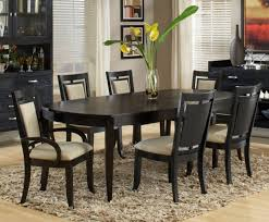 Black Dining Room Furniture Decorating Ideas Black Wood Dining Room Table Centerpieces Small Flower Vase