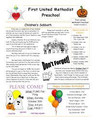 100 october preschool newsletter blank swot analysis template