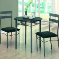 2 Person Dining Table And Chairs Furniture Black Dining Table With Two Chair Using Steel Base And