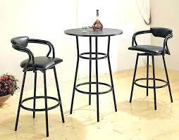 Adjustable Height Bar Table Glass Bar Table Image For Black Metal Counter